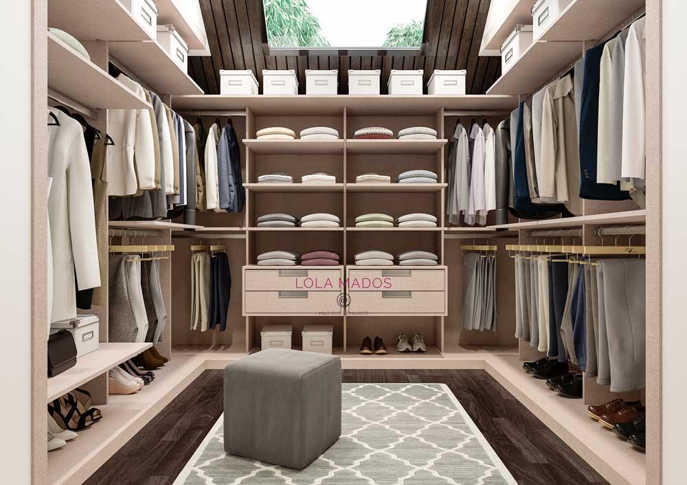 armario vestidor en buhardilla