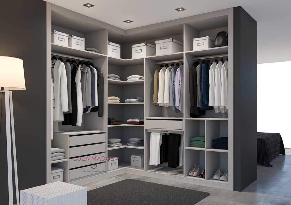 Hacer vestidor armario empotrado en una habitaci n lola for Mueble zapatero esquinero