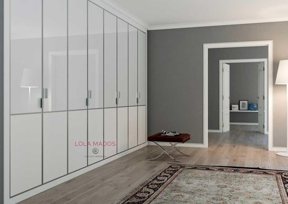 Puertas para armarios empotrados blancos a medida lola mados - Puertas correderas abatibles ...