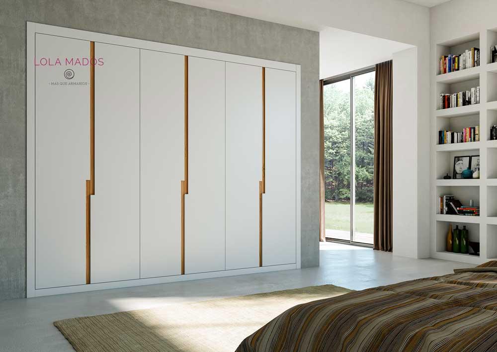 Puertas para armarios empotrados blancos a medida lola mados - Armarios con puertas abatibles ...