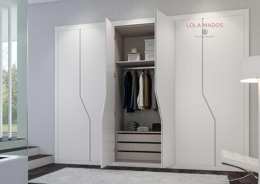 Puertas para armarios empotrados blancos a medida lola mados - Puertas correderas armarios empotrados precios ...
