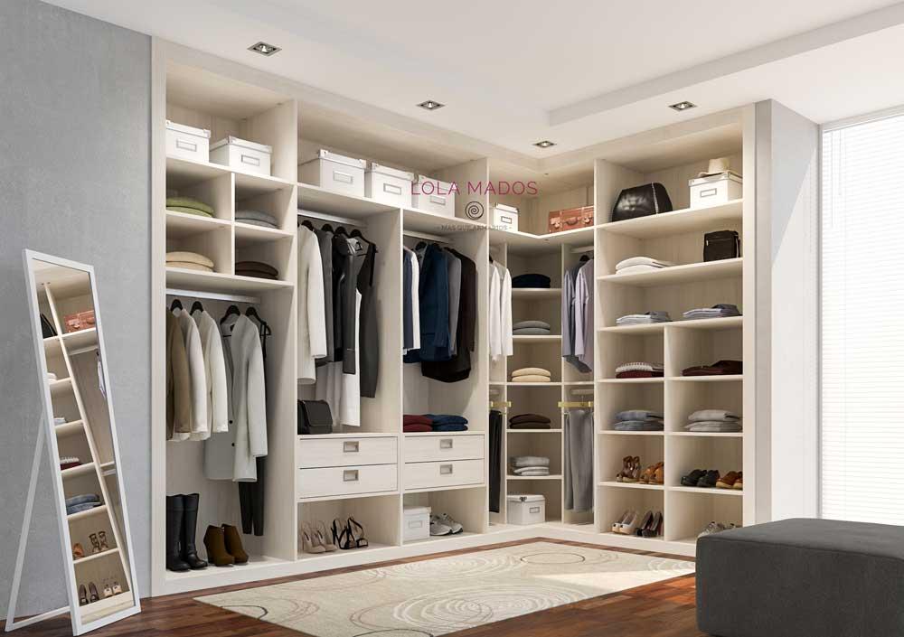 Hacer vestidor armario empotrado en una habitaci n lola mados - Armarios de esquina a medida ...