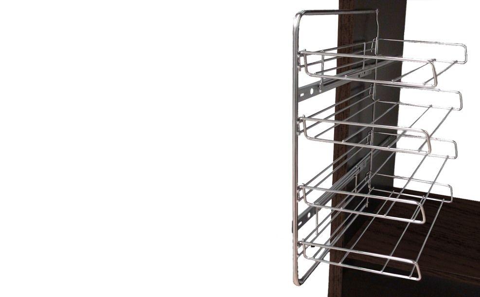 Zapatero Extraíble Classic, este diseño ofrece extracción total, una estética mas actual y un mayor aprovechamiento del espacio