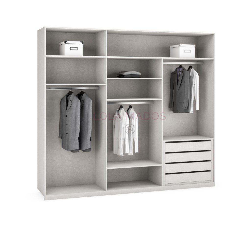 Precio de cajoneras para interiores de armarios lola mados for Forrar interior armario