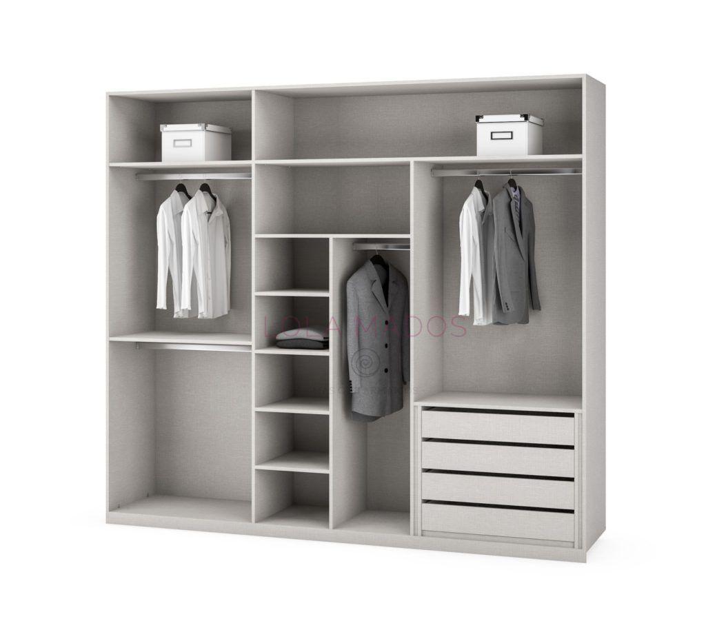 Precio de cajoneras para interiores de armarios lola mados - Cajonera para armario empotrado ...