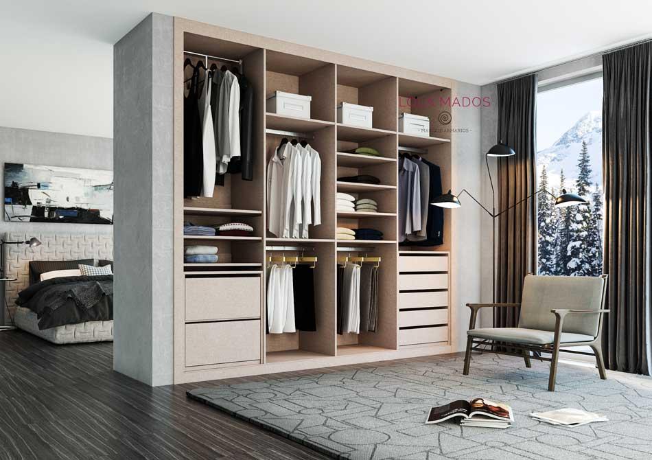 Hacer interior de armarios empotrados a medida blancos - Como hacer puertas correderas ...