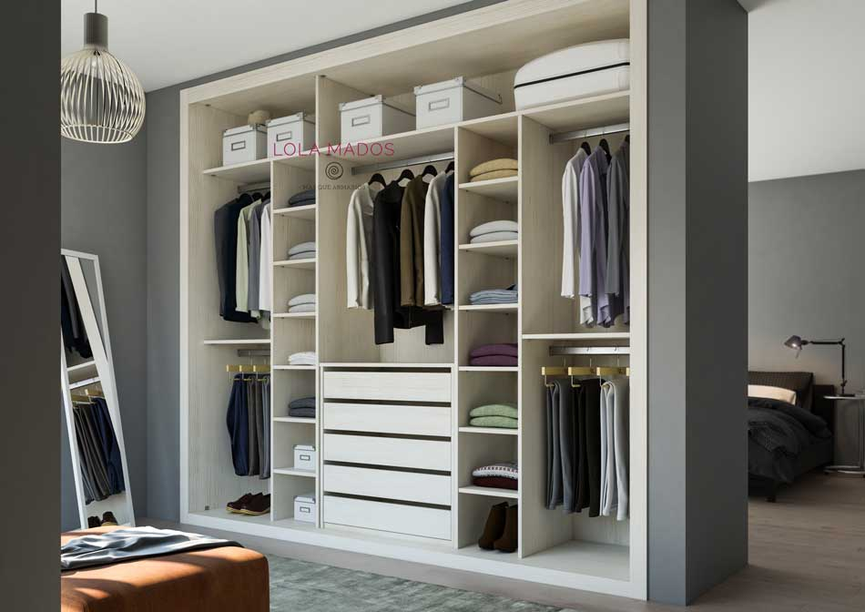 Hacer interior de armarios empotrados a medida blancos - Armarios empotrados interiores ...