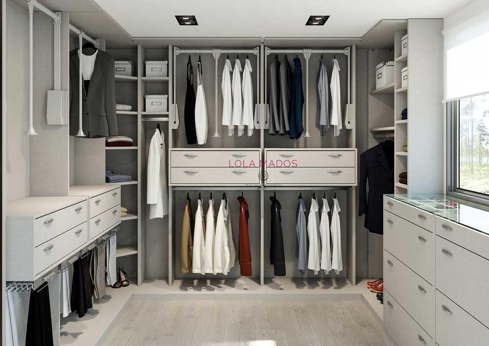 Hacer vestidor armario empotrado en una habitaci n lola for Diseno de armarios online