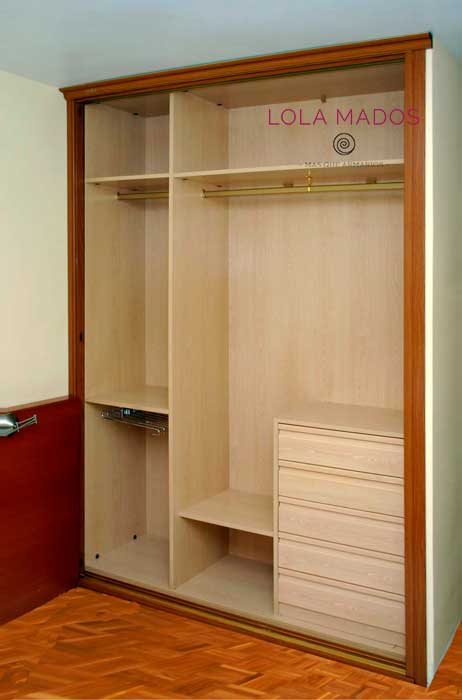 Hacer interior de armarios empotrados a medida blancos for Medidas puertas interior