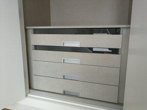 Cajones para interior armario con cristal